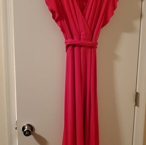 New The Limited Pink high-low dress size large